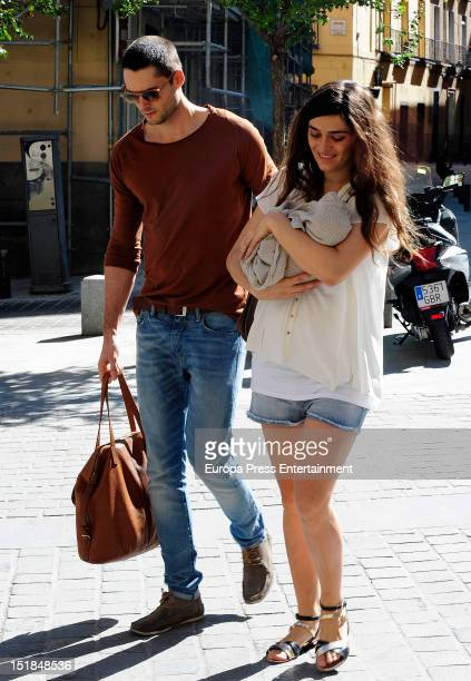 Olivia Molina Sergio Mur and their daughter Vera Mur are seen on September 11 2012 in Madrid Spain