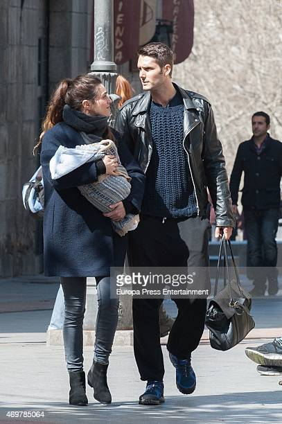 Olivia Molina Sergio Mur and their son Eric Mur are seen on March 16 2015 in Madrid Spain