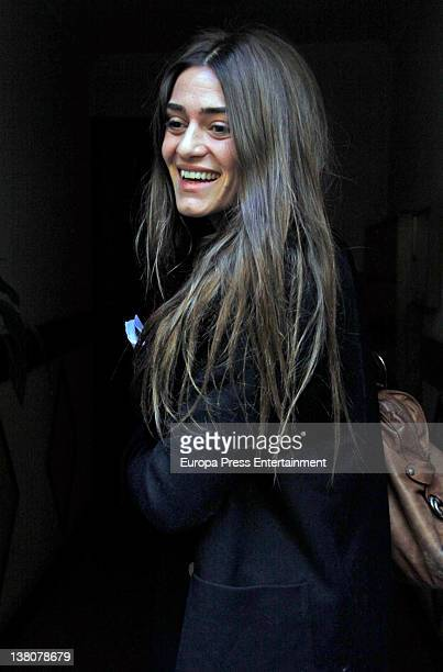 Olivia Molina three months pregnant is seen on February 1 2012 in Madrid Spain