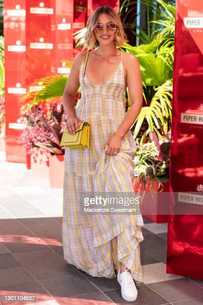 Olivia Molly Rogers attends the Piper-Heidsieck Champagne Bar during the 2021 Australian Open at Melbourne Park on February 09, 2021 in Melbourne,...