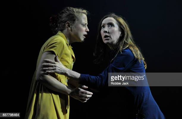 Olivia Morgan as Electra and Pauline Knowles as Clytemnestra in The Citizens Theatre production of Zinnie Harris's OresteiaThis Restless House as...