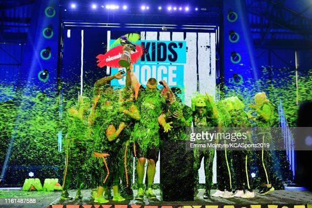 Olivia Moultrie Laurie Hernandez Ben Simmons Rob Gronkowski host Michael Strahan Trae Young Kel Mitchell Shaun White David Dobrik Alysa Liu P K...
