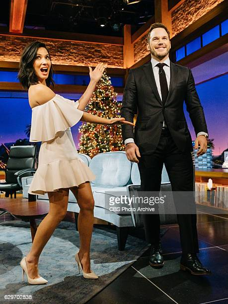 Olivia Munn and Chris Pratt chat with James Corden during The Late Late Show with James Corden Thursday December 8 2016 On The CBS Television Network