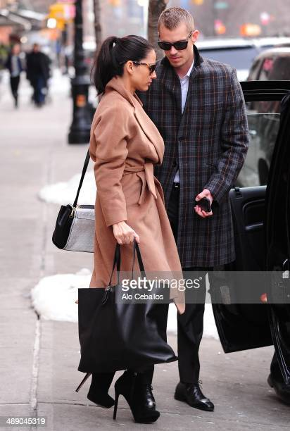 Olivia Munn and Joel Kinnaman are seen in Tribeca on February 12 2014 in New York City