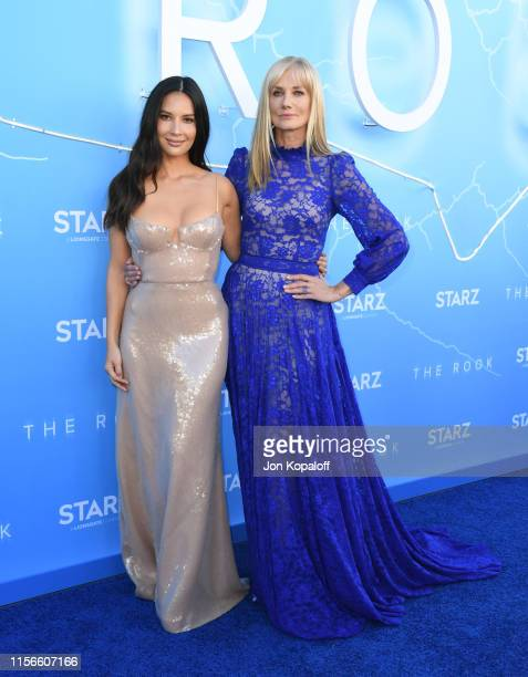 Olivia Munn and Joely Richardson attend LA Premiere Of Starz's The Rook at The Getty Museum on June 17 2019 in Los Angeles California