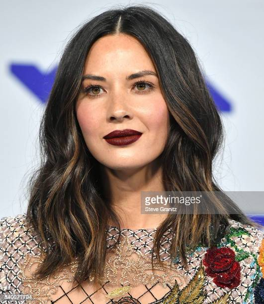 Olivia Munn arrive at the 2017 MTV Video Music Awards at The Forum on August 27 2017 in Inglewood California