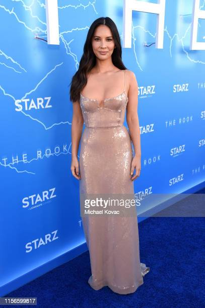 """Olivia Munn arrives at STARZ Los Angeles """"The Rook"""" Red Carpet and Premiere at The Getty Center on June 17, 2019 in Los Angeles, California."""