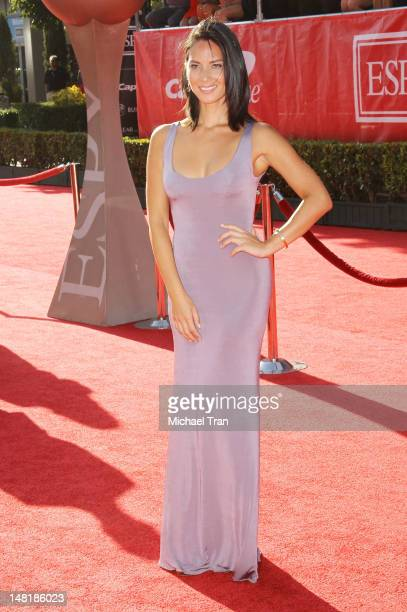 Olivia Munn arrives at the 2012 ESPY Awards held at Nokia Theatre L.A. Live on July 11, 2012 in Los Angeles, California.