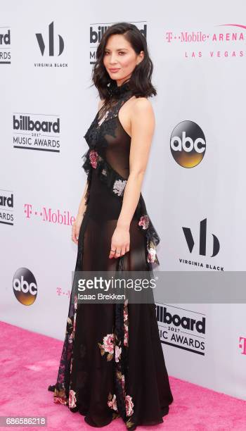 Olivia Munn arrives at the 2017 Billboard Music Awards presented by Virginia Black at TMobile Arena on May 21 2017 in Las Vegas Nevada