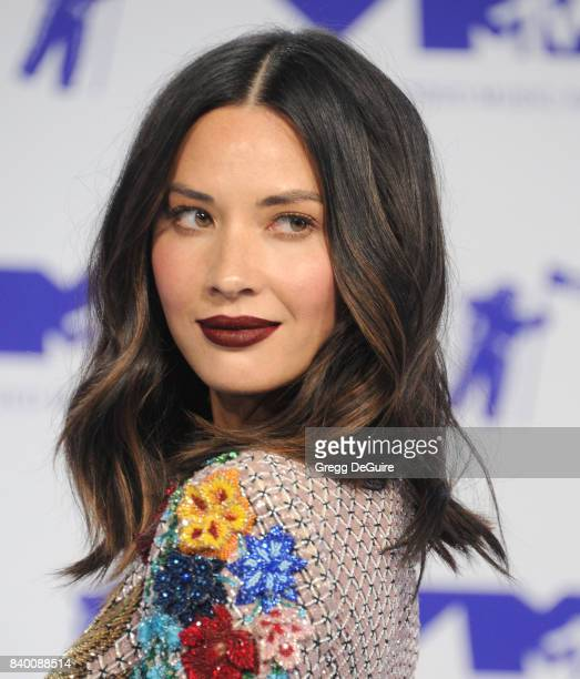Olivia Munn arrives at the 2017 MTV Video Music Awards at The Forum on August 27 2017 in Inglewood California