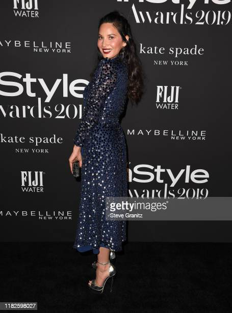 Olivia Munn arrives at the 2019 InStyle Awards at The Getty Center on October 21, 2019 in Los Angeles, California.