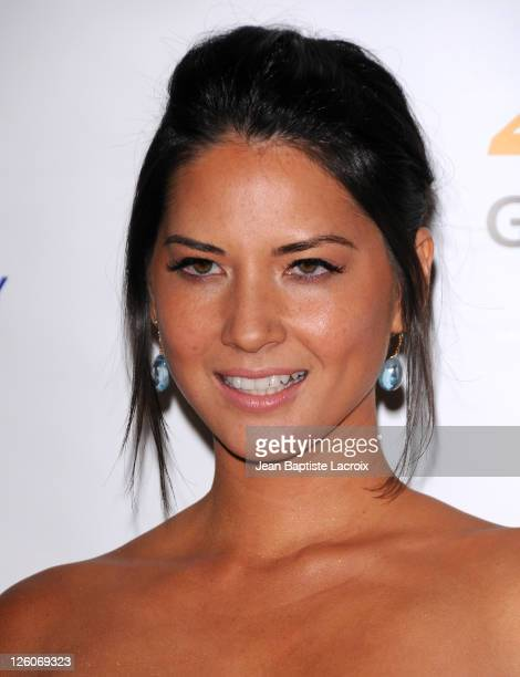 Olivia Munn arrives at the 25th Anniversary Genesis Awards hosted by the Humane Society of the United States held at the Hyatt Regency Century Plaza...
