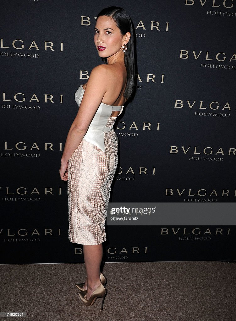 Olivia Munn arrives at the BVLGARI 'Decades Of Glamour' Oscar Party Hosted By Naomi Watts at Soho House on February 25, 2014 in West Hollywood, California.