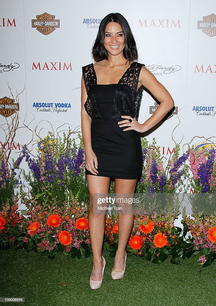 Olivia Munn arrives for the 11th Annual MAXIM HOT 100 Party held at Paramount Studios on May 19, 2010 in Los Angeles, California.