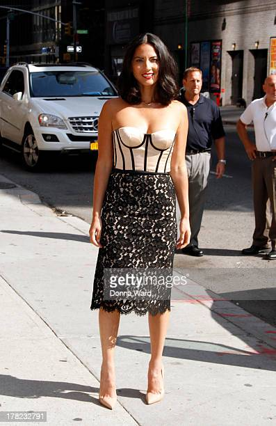 """Olivia Munn arrives for the """"Late Show with David Letterman"""" at Ed Sullivan Theater on August 27, 2013 in New York City."""