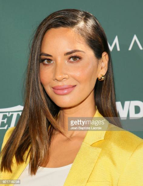Olivia Munn arrives to the Council of Fashion Designers of America luncheon held at Chateau Marmont on February 20 2018 in Los Angeles California