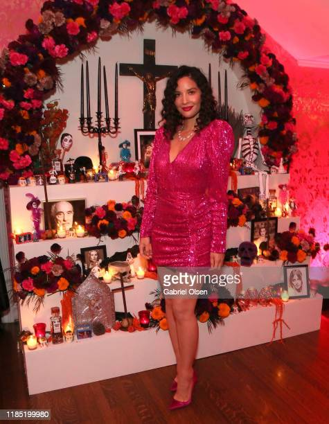 Olivia Munn attends A Day of the Dead Celebration with Bea Åkerlund and Miranda Dickson at the Private Residence of Jonas Tahlin, CEO of Absolut Elyx...