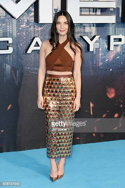 Olivia Munn attends a Global Fan Screening of 'XMen Apocalypse' at BFI IMAX on May 9 2016 in London England