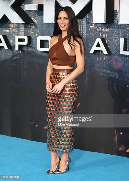 Olivia Munn attends a Global Fan Screening of XMen Apocalypse at BFI IMAX on May 9 2016 in London England