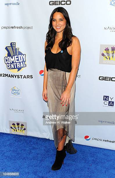 Olivia Munn attends Comedy Central's Night Of Too Many Stars An Overbooked Concert For Autism Education at the Beacon Theatre on October 2 2010 in...