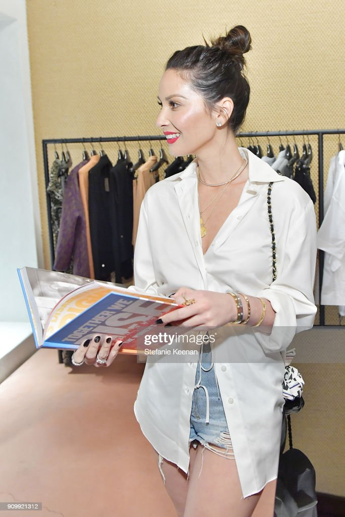 Olivia Munn attends Conde Nast & The Women March's Cocktail Party to Celebrate the One Year Anniversary of the March & the Publication of Together We Rise on January 24, 2018 in West Hollywood, California.