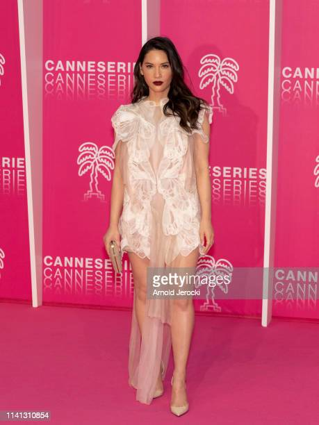 Olivia Munn attends day four of the 2nd Canneseries International Series Festival, on April 08, 2019 in Cannes, France.