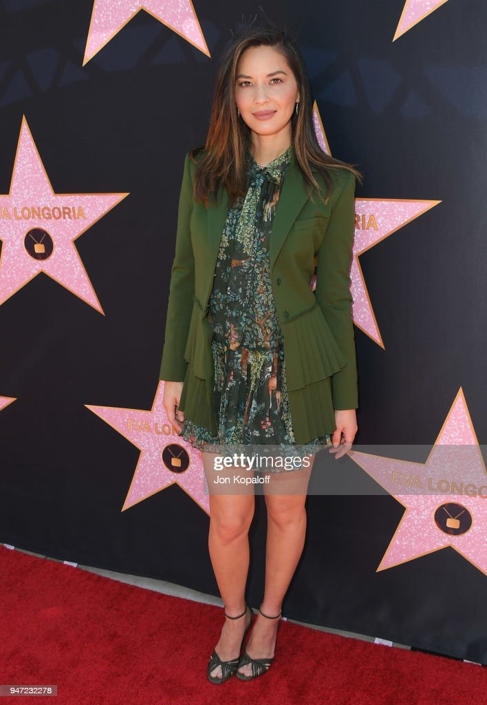 Olivia Munn attends Eva Longoria's Hollywood Star Ceremony Post-Luncheon on April 16, 2018 in Beverly Hills, California.
