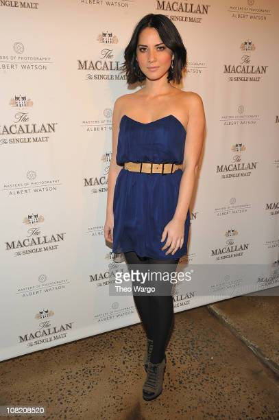Olivia Munn attends Masters of Photography A Journey presented by The Macallan at Milk Studios on January 20 2011 in New York City