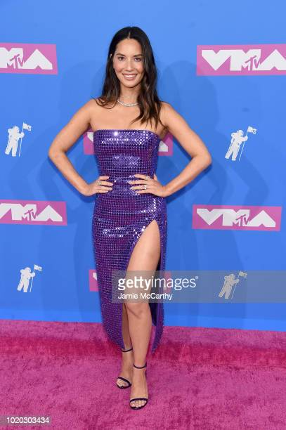 Olivia Munn attends the 2018 MTV Video Music Awards at Radio City Music Hall on August 20 2018 in New York City