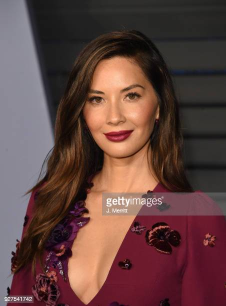 Olivia Munn attends the 2018 Vanity Fair Oscar Party hosted by Radhika Jones at the Wallis Annenberg Center for the Performing Arts on March 4 2018...
