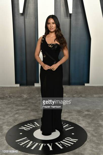 Olivia Munn attends the 2020 Vanity Fair Oscar Party hosted by Radhika Jones at Wallis Annenberg Center for the Performing Arts on February 09, 2020...