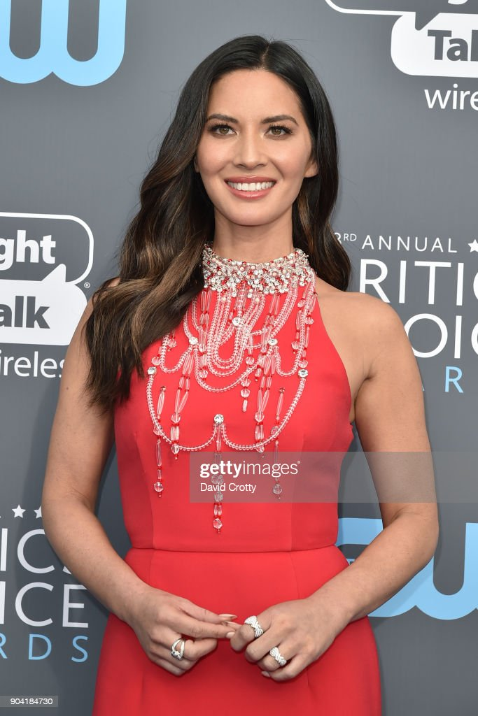 Olivia Munn attends The 23rd Annual Critics' Choice Awards - Arrivals at The Barker Hanger on January 11, 2018 in Santa Monica, California.