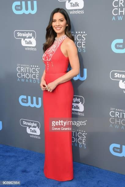 Olivia Munn attends The 23rd Annual Critics' Choice Awards at Barker Hangar on January 11 2018 in Santa Monica California