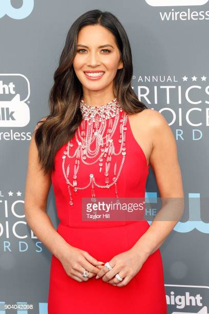 Olivia Munn attends the 23rd Annual Critics' Choice Awards at Barker Hangar on January 11 2018 in Santa Monica California