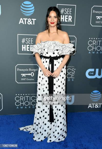 Olivia Munn attends the 24th annual Critics' Choice Awards at Barker Hangar on January 13, 2019 in Santa Monica, California.