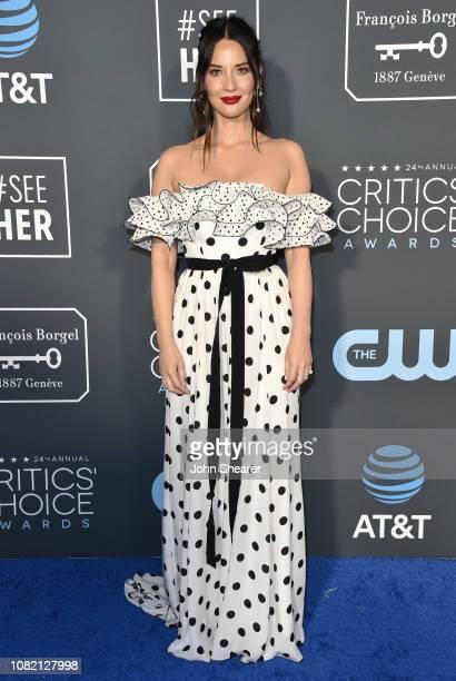 Olivia Munn attends The 24th Annual Critics' Choice Awards at Barker Hangar on January 13 2019 in Santa Monica California