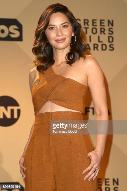 Olivia Munn attends the 24th Annual SAG Awards Nominations Announcement at SilverScreen Theater at the Pacific Design Center on December 13 2017 in...