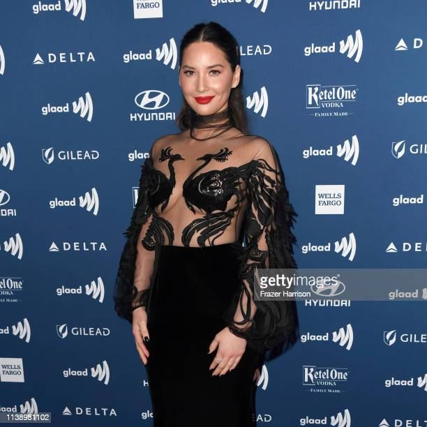 Olivia Munn attends the 30th Annual GLAAD Media Awards at The Beverly Hilton Hotel on March 28 2019 in Beverly Hills California