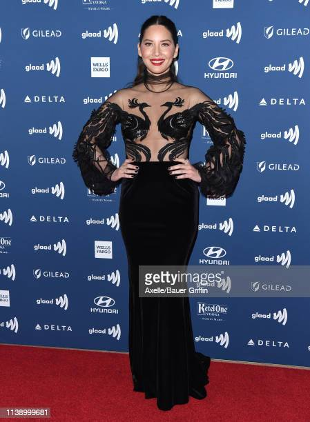 Olivia Munn attends the 30th Annual GLAAD Media Awards at The Beverly Hilton Hotel on March 28, 2019 in Beverly Hills, California.