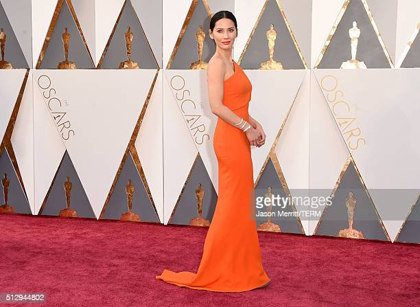 Olivia Munn attends the 88th Annual Academy Awards at Hollywood Highland Center on February 28 2016 in Hollywood California