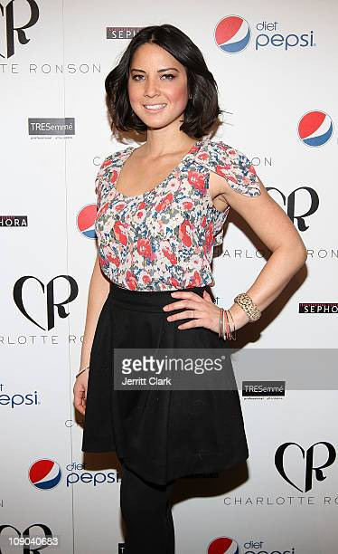 Olivia Munn attends the Charlotte Ronson Fall 2011 Fashion show presented by Diet Pepsi during MercedesBenz Fashion Week at The Stage at Lincoln...