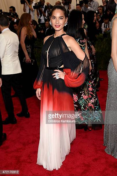 Olivia Munn attends the 'China Through The Looking Glass' Costume Institute Benefit Gala at the Metropolitan Museum of Art on May 4 2015 in New York...