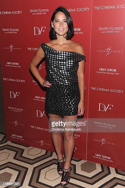 Olivia Munn attends the Cinema Society with Ivanka Trump Jewelry Diane Von Furstenberg screening of Snow Flower And The Secret Fan at the Tribeca...