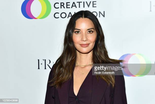Olivia Munn attends the Creative Coalition 2018 Spotlight Initiative Gala Awards Dinner at House of Aurora on September 8 2018 in Toronto Canada