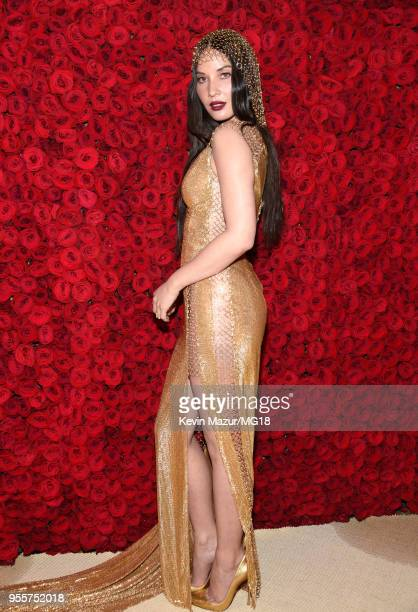 Olivia Munn attends the Heavenly Bodies: Fashion & The Catholic Imagination Costume Institute Gala at The Metropolitan Museum of Art on May 7, 2018...