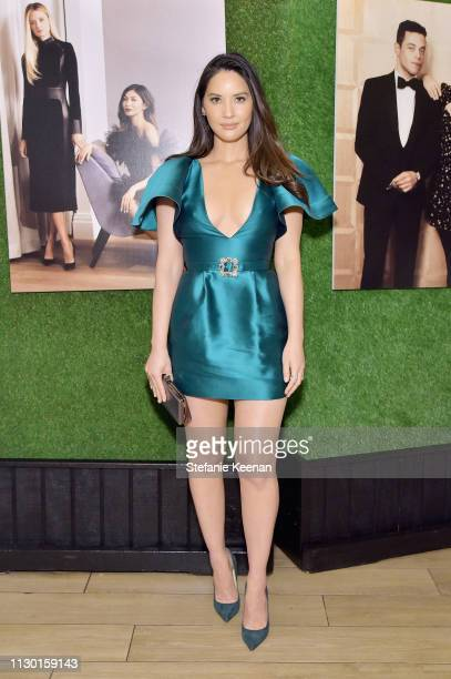 Olivia Munn attends The Hollywood Reporter and Jimmy Choo Power Stylists Dinner at Avra Beverly Hills Estiatorio on March 12 2019 in Beverly Hills...