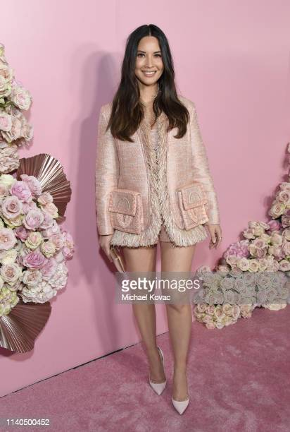 Olivia Munn attends the official launch of the Patrick Ta Beauty Major Glow collection with Moët & Chandon at Goya Studios on April 04, 2019 in Los...
