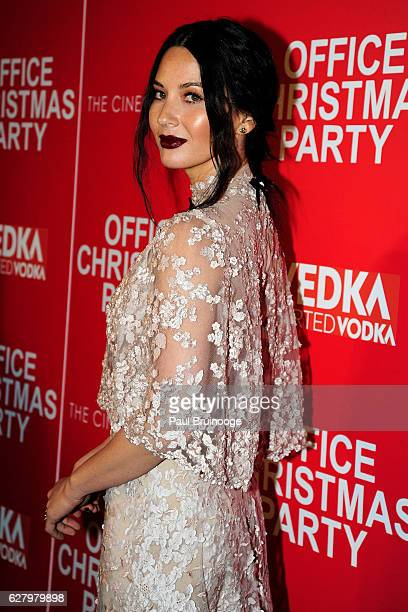 "Olivia Munn attends the Paramount Pictures with Paramount Pictures with The Cinema Society & Svedka Host a Screening of ""Office Christmas Party"" at..."