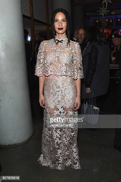 Olivia Munn attends the Paramount Pictures with The Cinema Society Svedka Host An After Party For 'Office Christmas Party' at Mr Purple at the Hotel...