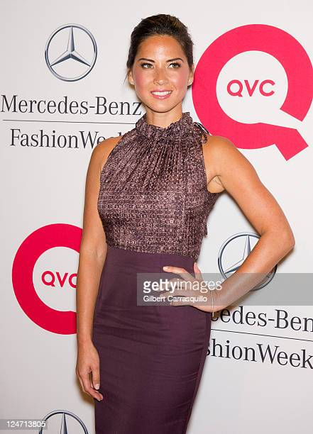 Olivia Munn attends the QVC Fashion Week Show at The Suspenders Building on September 10, 2011 in New York City.